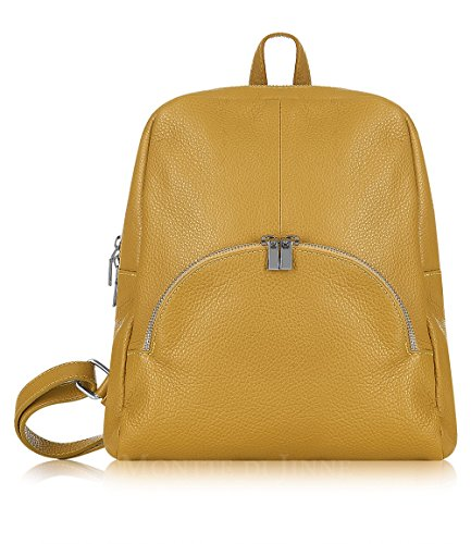 Montte Di Jinne - Italian Leather Backpack - Soft 100% Italian Leather (Mustard)