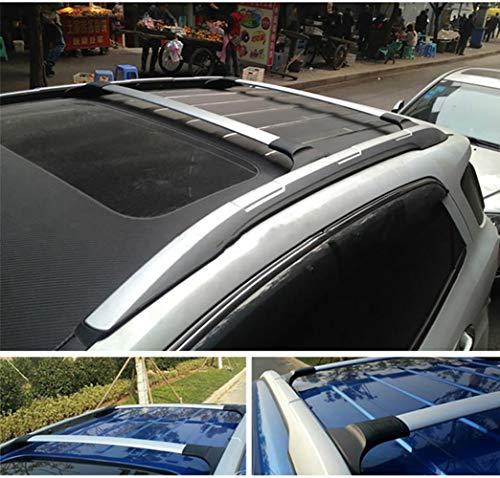REEMILY Auto Styling Aluminiumlegierung Seitenstangen Kreuzschienen Dachträger Gepäckträger Gepäckträger 2St. Für Ford Ecosport 2013-2018