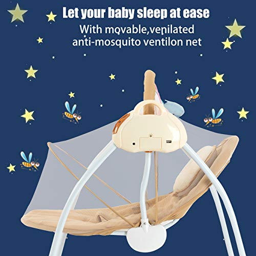 51URvVri30L 10 Best Portable Baby Swings on the Market 2021 Review