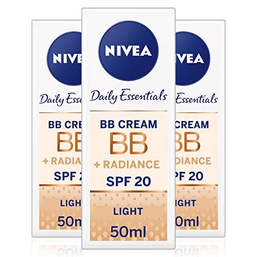 Nivea Diarios Esenciales BB Cream SPF 105en 1Beautifying Crema hidratante de Cara, 50ml, luz, pack de 3