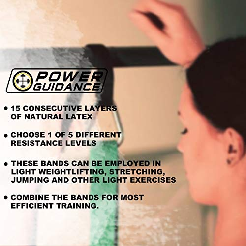 POWER GUIDANCE Pull up Bands - Resistance Bands - Exercise Loop Band for Body Stretching, Resistance Training (#7. A Set of 4)