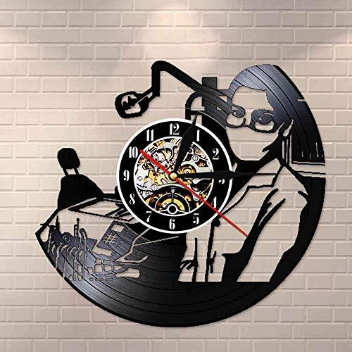 Tbqevc Reloj de Pared con Registro de Vinilo para Dentista, decoración de Arte de Pared Dental, Regalo de graduación de Cirujano Dental para Ventilador de Dentista de 12 Pulgadas