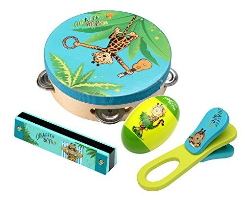 Preisvergleich Produktbild Beluga Spielwaren 67022 - Giraffenaffen Instrumente Set 4-Fach