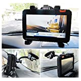 Ramtech Car Vehicle Truck Adjustable Windshield Suction Mount Holder Bracket Stand Suitable for 7-inch Magellan RoadMate 9600-LM / 9612T-LM / 9616T-LM GPS (WMB7)