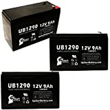3 Pack Replacement for Minuteman PRO1500E Battery - Replacement UB1290 Universal...