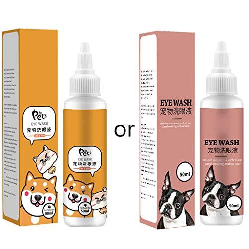 lijun 50ml Gotas para los Ojos de Gatos Gotas de Limpieza Cuidado de Cachorros Ojos de Mascotas Removedor de Manchas de lágrimas