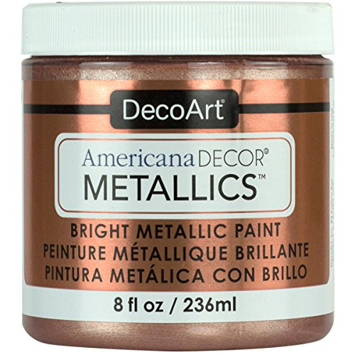 DecoArt Ameri Deco MTLC Rose Gold Americana Decor Metallics 8oz, 8 Fl Oz (Pack of 1)