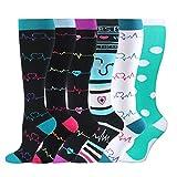 HLTPRO Compression Socks for Women & Men - 6 Pairs 20-30 mmHg Compression Stockings for Medical,...