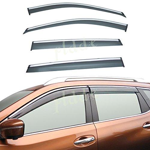 PLDDE 4pcs For 07-14 Ford Edge//07-15 Lincoln MKX Sun//Rain Guard Outside Mount Window Visors