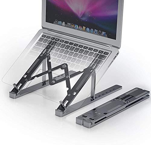 LZGBH Soporte para computadora portátil, Elevador para computadora portátil Ajustable de disipación de Calor de aleación de Aluminio portátil, Soporte para