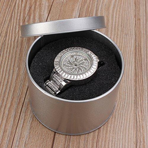 ExcLent Silberne Zange Schmuck Watch Geschenkbox Fall Sponge Fensterspeicher