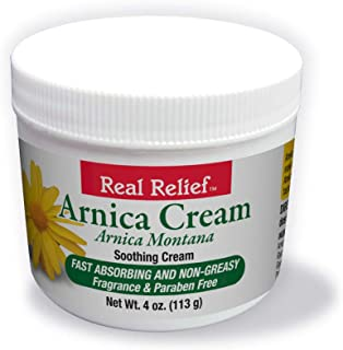 Real Relief Arnica Cream 4 oz Soothing Cream