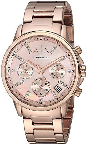 Armani Exchange AX4326 - Reloj de Pulsera para Mujer, Color Oro Rosa