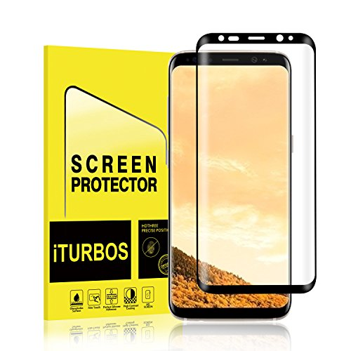 Galaxy S8 Plus Screen Protector [2-Pack], iTURBOS Full Screen Coverage 3D PET HD Screen Protector Film for Samsung Galaxy S8 Plus Black.