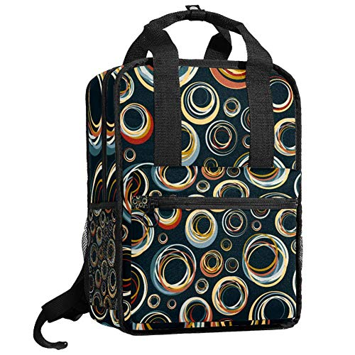 Mochila de viaje para ordenador o estudiante, bolso de mano, informal, regalo para hombres y mujeres, fondo abstracto