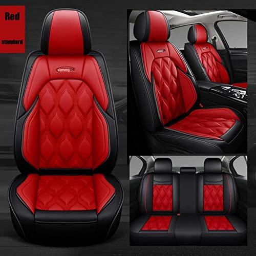 Ciroing Fundas Asientos Coche Accesorios Universales para BMW E30 E34 E90 E60 E39 E36 E87 F30 M5 F10 E46 X5 E53 E70 G30 Ford Focus Ranger Kuga Focus 2 Fiesta Focus Cuero Funda Asiento Seat.Rojo