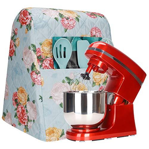 Kitchen Aid Mixer Abdeckung, Zubehör, 4,5–6 Quart Stand Mixer Abdeckung mit Taschen, Mixer Staubschutz, kompatibel mit Kitchenaid Mixern, Hamilton Mixern