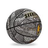 LDLXDR Balones de Baloncesto- Baloncesto n. ° 7, Utilizado para Entrenamiento y Aprendizaje de Baloncesto en Interiores y Exteriores,Gray