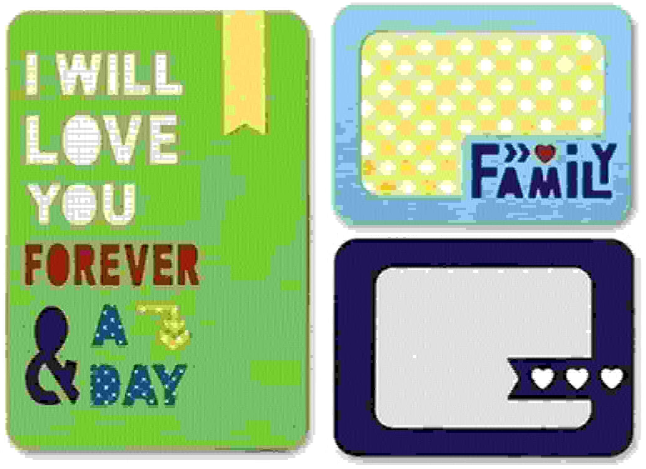 orden ahora disfrutar de gran descuento Sizzix Sizzix Sizzix Thinlits Die Forever and a Day by Rachael Bright, Set of 4 by Sizzix  ventas en linea