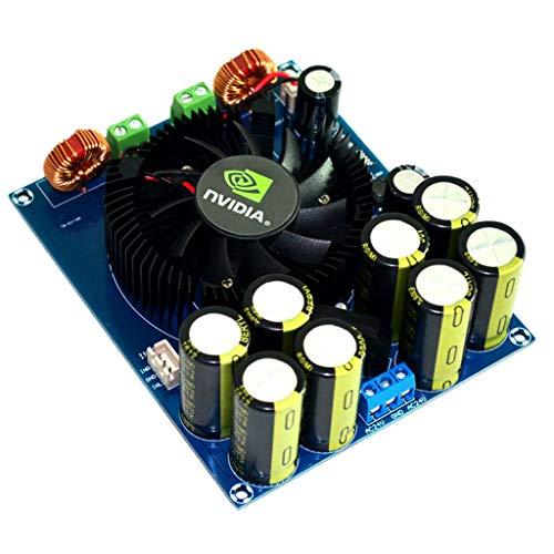 Non-brand Placa Amplificadora Digital de Potencia con 1 Ventilador de Refrigeración para Altavoces
