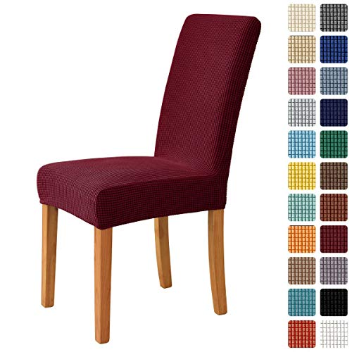 MILARAN Dining Chair Cover, Soft Stretch Jacquard Chair Seat Slipcover for Dining Room, Kitchen, Washable Removable Parson Chair Protector for...