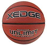 XEDGE Basketball Size 7/29.5' Composite Leather Street Basketball Indoor Outdoor Game Ball with Needle,Pump and Carry Bag