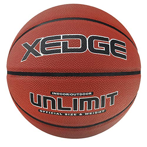 Best Deals! XEDGE Basketball Size 7/29.5 Composite Leather Street Basketball Indoor Outdoor Game Ba...