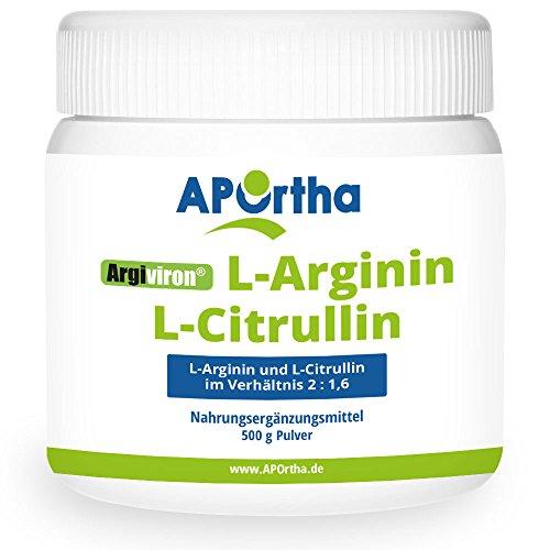 APOrtha L-Arginin + L-Citrullin Pulver | Verhältnis 2 : 1,6 | 500g Pulver