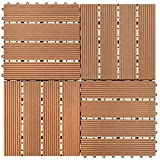 Terraza Antracita EUGAD 22x Suelo de Exterior WPC 30x30cm Terrazas del Piso 22 Set 2m/² Baldosas de Madera para Jardin