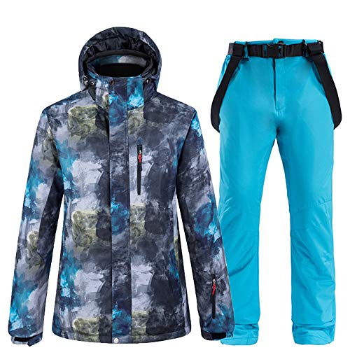 HXSKI Heren Sneeuw SuitWear, Snowboard Kleding, Winter Outdoor Sport Waterdichte Winddichte Dikke Ski Jassen en Sneeuwriem Broek