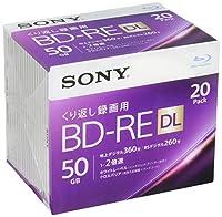 ソニー ビデオ用ブルーレイディスク 20BNE2VJPS2(BD-RE2層:2倍速 20枚パック)