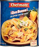 Chef-mate Que Bueno Spicy Nacho Cheese Sauce, Jalapeno Queso, Canned Food, 6 lb 10 oz (#10 Can Bulk)