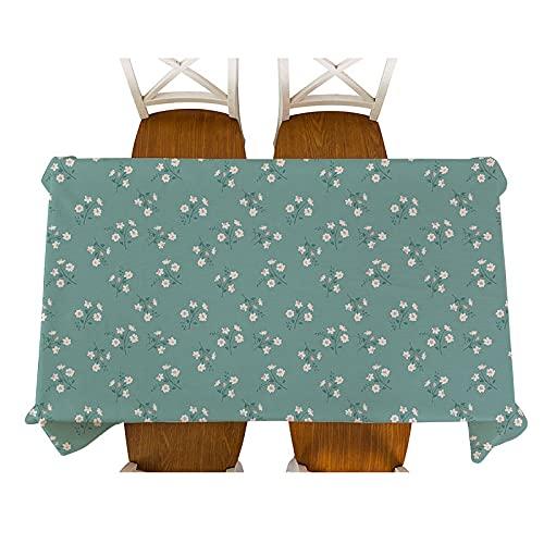XXDD Mantel de Lino Impermeable con diseño Floral pequeño de Estilo Pastoral, Mantel Decorativo de Mesa de Picnic de Cocina para el hogar, Mantel Decorativo A6 140x180cm