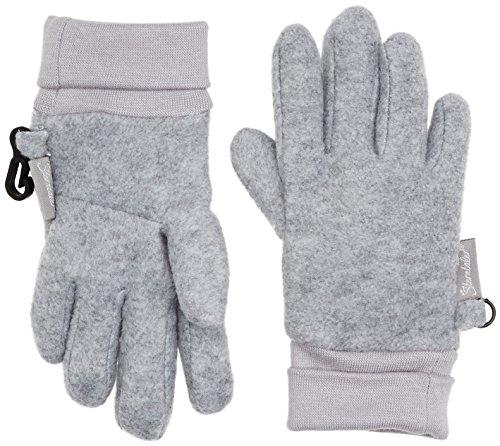 Sterntaler Fingerhandschuhe für Kinder, Alter: 5-6 Jahre, Größe: 4, Silber meliert