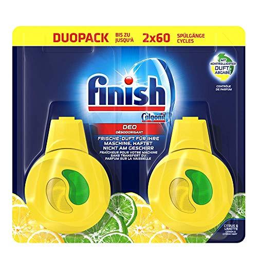 Finish Spülmaschinen-Deo Citrus & Limette – Deo für den Geschirrspüler – Gegen schlechte Gerüche – Pack mit 5 x 2 Stück