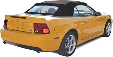 Compatible With Ford Mustang Convertible Soft Top with Heated Glass Window Two-Piece Factory Style Black Sailcloth 1994-2004