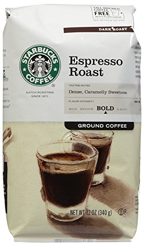 Starbucks Espresso Ground Coffee, 12 oz (Packaging May Vary)
