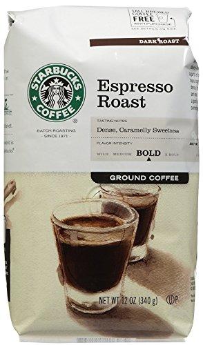 Starbucks Espresso Ground Coffee, 12 oz (Packaging May Vary)
