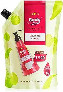 Plum BodyLovin' Drivin' Me Cherry Shower Gel Refill Pack (Body Wash)   All Skin Types   Fruity   Non-Drying   Sulphate-fre...