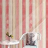 LZYMLG Vintage Holz Streifen Tapete Moderne Einfache Wohnzimmer Schlafzimmer Studie Wohnkultur Pvc Selbstklebende Wasserdichte Wandaufkleber Rollen D