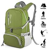 glymnis zaino trekking 30l zaino pieghevole ultraleggero e impermeabile,zaino unisex adatto per outdoor, scuola, campeggio, escursione e alpinismo verde