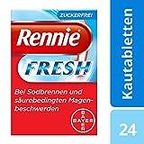 Bayer Vital Fresh, zuckerfreie Hilfe bei Sodbrennen und säurebedingten Magenbeschwerden, 24 Kautabletten, 9543481
