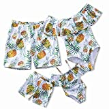 IFFEI Mommy and Me Swimsuit One Piece Pineapple Printed Family Matching Swimwear Girls: 4-5 Years