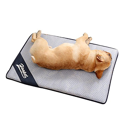 Aolvo Cooling Pad/Mat/Bed for Dogs & Cats, Extra Large - Non Toxic, Non Sticking, Skin-Friendly, Keep Pets Cool, Prevent Overheating & Dehydration - Comfortable Cool Stuff for Pet (27.5