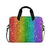 RELEESSS Laptop-Hülle, Regenbogen-Muster, Laptop-Handtasche, Aktentasche, Kuriertasche, Tragetasche, Tasche, verstellbarer Schultergurt für 33-40,6 cm (13-16 Zoll)