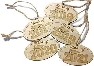 Class of 2017 2018 2019 2020 2021 Graduation ornament - 3.5 in x 2.25 in
