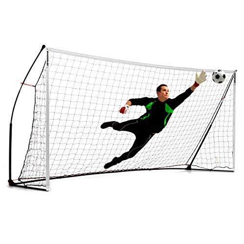 QUICKPLAY Kickster Academy Soccer Goal Range – Ultra Portable Soccer Goal Includes Soccer Net and Carry Bag [Single Goal] Now Available in The US for The First Time. (6) 16x7'
