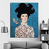 Chica Abstracta Pintar por Numeros para Adultos Patrón De Kit de Pintura al óleo para Bricolaje con Pinceles y Pinturas Decoraciones para el Hogar40x50cmPintura sin Marco