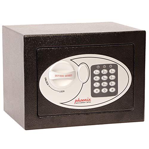 Phoenix 701BEB - Caja fuerte (cierre electrónico de seguridad, 4 L, 5 kg, 23 x 17 x 17 cm)