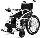 WXDP Eléctrico plegable ligero autopropulsado para adultos, plegable Scooter viejo ligero, marco de aleación de aluminio eléctrico discapacitado 250w*2 poder para discapacitados y E